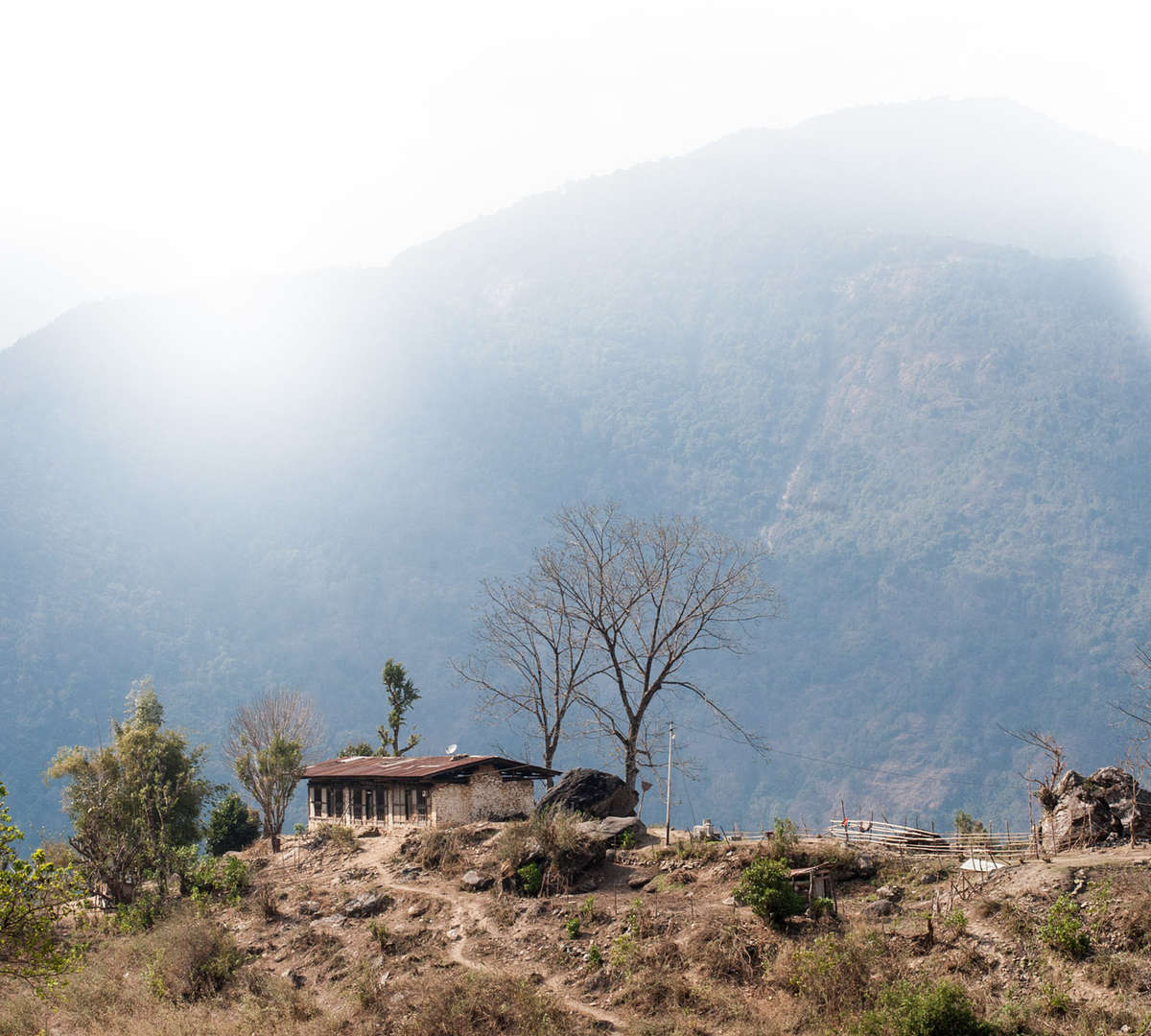 A rural village in Bhutan. Photo Credit: Susan Warner 2016.