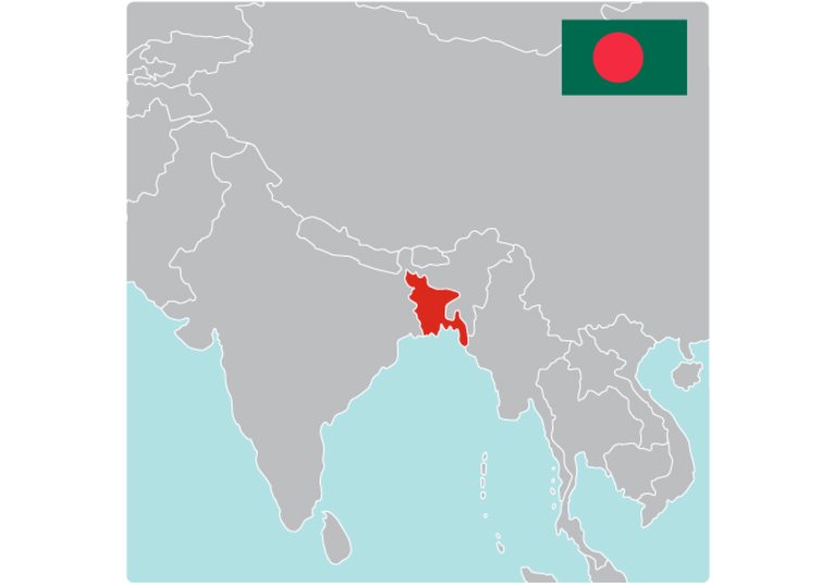 Map of Bangladesh by Save the Children