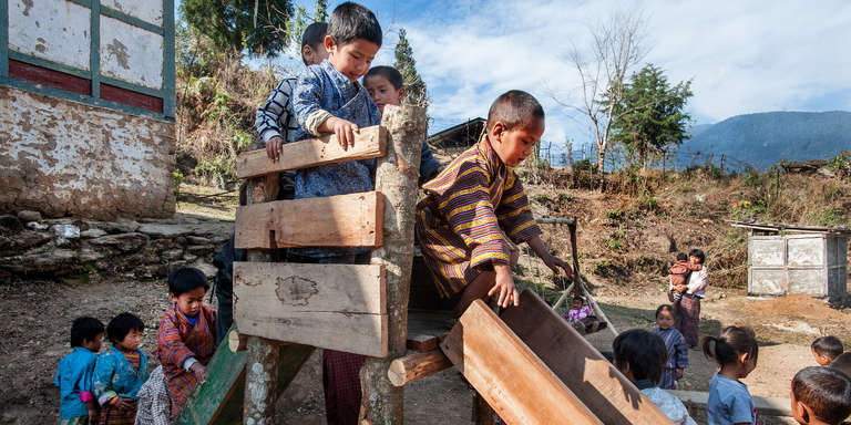 In Bhutan, Save the Children is helping to iimprove the quality of education in more than 200 preschools, training teachers to incorporate play-based math and reading activities that help increase school readiness and the potential for success in elementary school. Save the Children is working with preschool teachers throughout the country to introduce play-based learning activities. Photo Credit: Susan Warner/Save the Children 2016.