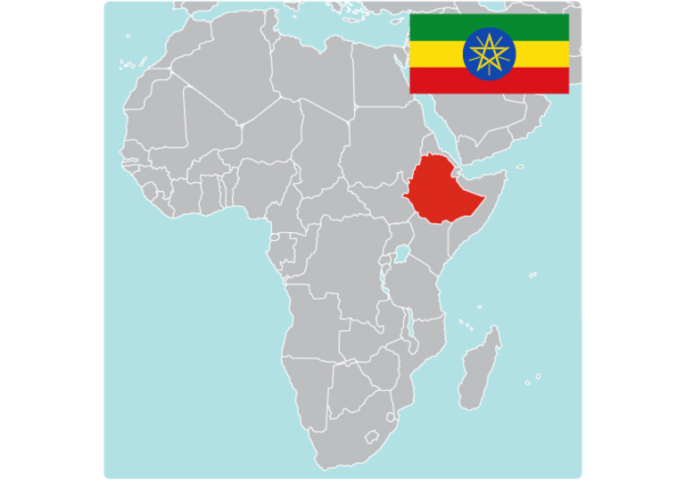 Map of Ethiopia