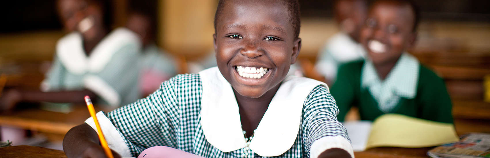 Betty Epur is a 9 year-old girl studying at a Save the Children school in Moroto, Karamoja, Uganda.