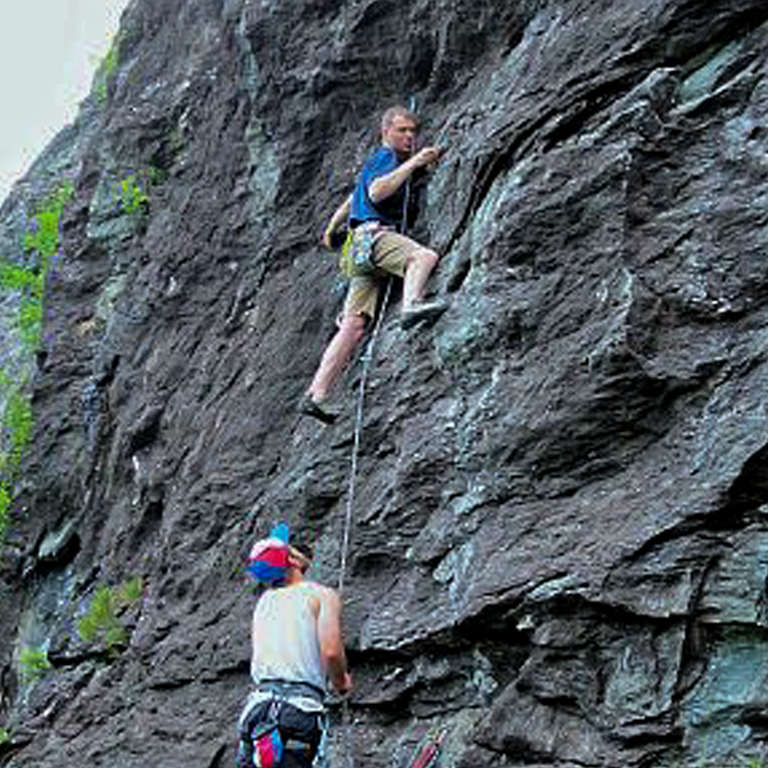 John Fain and Rick Rowan put their passion for rock climbing to good use – raising money for children. Contributed photo/Save the Children 2014.