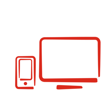 Icon of a smartphone and a monitor, demonstrating our commitment to creating digital solutions for youths. Image credit: Save the Children, 2017.