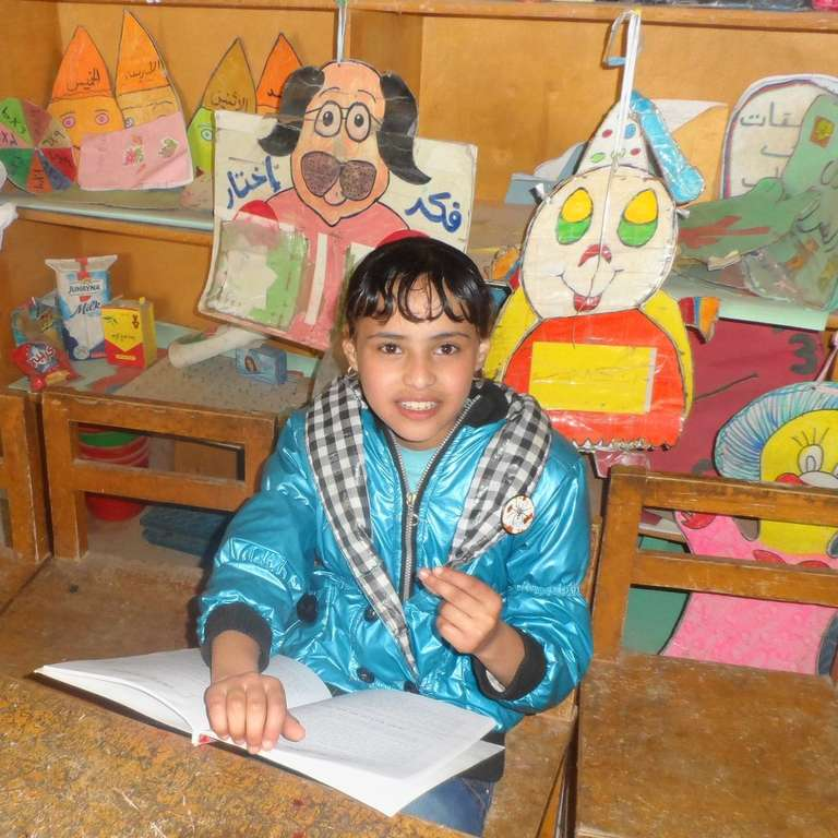 Dina from Egypt is now back in school thanks to Save the Children sponsorship. Photo Credit: Save the Children in Egypt