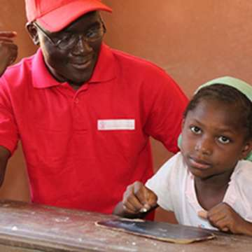 Once a sponsored child himself, Souleymane now works at Save the Children in Mali. Photo Credit: Save the Children in Mali