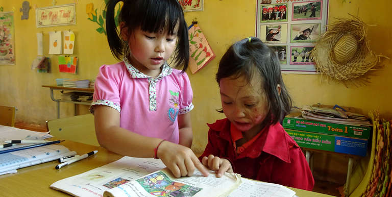 Our programs ensure every child has the opportunity to learn, including those with disabilities, like 7-year-old Yen in Vietnam. Photo Credit: Save the Children in Vietnam