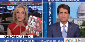 Mark Shriver, our Senior Vice President of U.S. Programs & Advocacy joined MSNBC's Andrea Mitchell to discuss the challenges facing kids living in poverty in rural America, and inviting viewers to join our movement. Photo credit: Save the Children 2018.