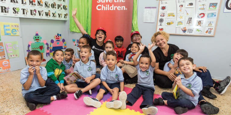 Chart-topping singer-songwriter Camila Cabello joined Save the Children as an Ambassador, committed to raising awareness and advocating for children in the U.S. and around the world. While in Puerto Rico for her first concert on the island, Camila visited children impacted by Hurricane Maria in some of the hardest-hit communities. Photo credit: Save the Children 2018.