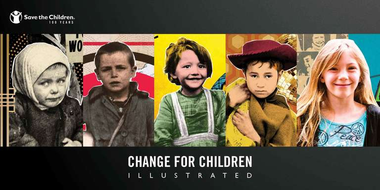 Change for Children Illustrated Report cover graphic