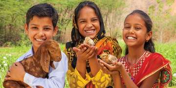 A great way to donate! Chickens and goats give much-needed protein to help maintain the health of children. When additional animals arrive, so do more milk and eggs, giving families a way to earn income. Photo Credit: Jordan J. Hay/Save the Children 2016.