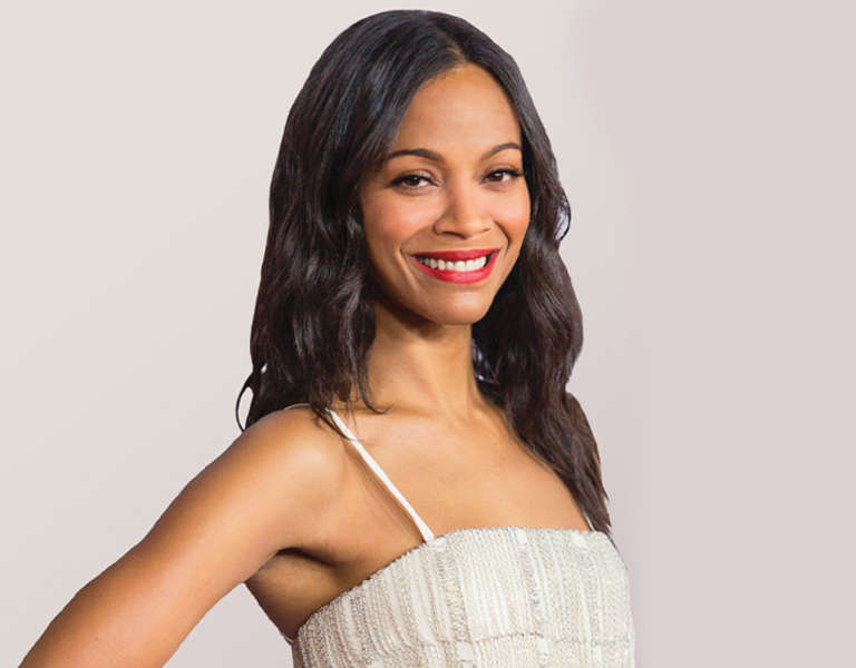 A photo portrait of Zoe Saldana.