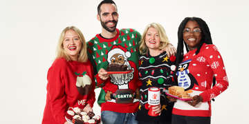 Individuals don their most festive holiday sweaters to make the world better with a sweater and help save children's lives. Photo Credit: Jamie Baker / Save the Children, September 2017.