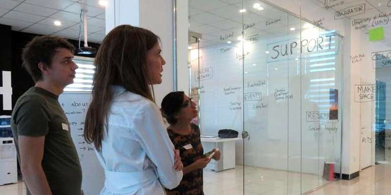 Innovation Ecosystem Mapping at the Response Innovation Lab in Iraq. Photo Credit: Save the Children 2017.