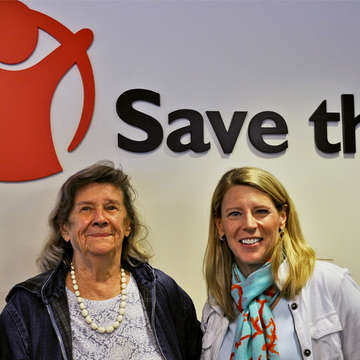 Janet Aley and Save the Children's President and CEO, Carolyn Miles. Photo Credit: Susan Warner