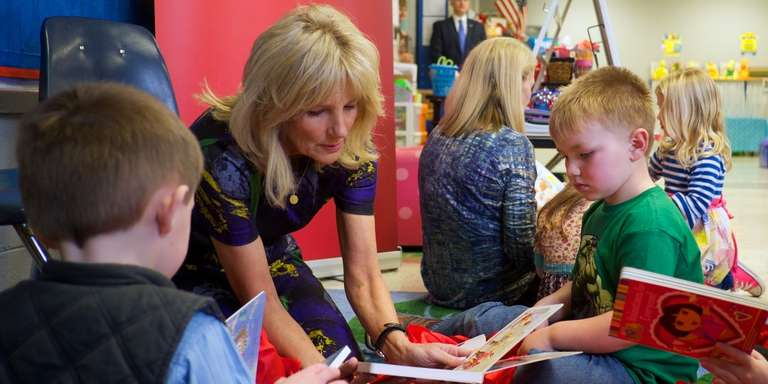 Save the Children Board Chair Dr. Biden visits Linden Elementary School in Linden, Tennessee in February, 2017. Photo Credit: Shawn Millsaps/Save the Children 2017.