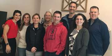 Members of the upstate New York leadership council (left to right): Diana Sarro (Save the Children), Beth Miles, Emily Cooper, Kathy Braico, Matt Miles, Shawn Jorgensen, Meaghan Dugan, and Mike O'Toole. Photo credit: Save the Children 2019.