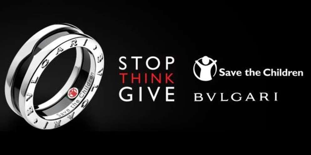 Since beginning its unique partnership in 2009 with Save the Children, Bvlgari has raised over $85 million globally through sales of an iconic Save the Children jewelry collection. This is a ring with the Save the Children logo. Photo credit: Save the Children 2019.