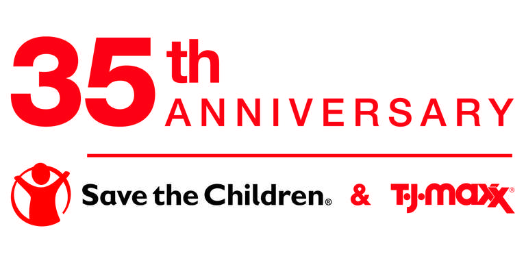 35th Anniversary T.J. Maxx and Save the Children logo