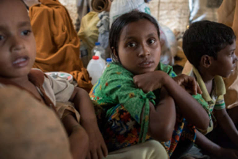 In 2017, we felt strongly that the plight of the Rohingya people could not be ignored. More than half of a million children and families are in dire need of immediate lifesaving aid and our group raised funds toward helping children there. Photo credit: Upstate New York Friends of Save the Children.