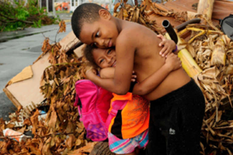 In 2017, we provided critical aid for the children and families facing massive devastation in Puerto Rico and the Dominican Republic, so they can recover and rebuild their lives. Photo credit: Upstate New York Friends of Save the Children.