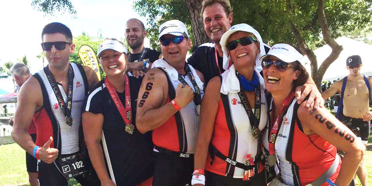 Team Save the Children athletes race in the Escape to Miami Triathlon to raise funds to ensure children in the US and around the world have the opportunity for a bright future.  Photo Credit: Sara Abrams, Save the Children. September 2016