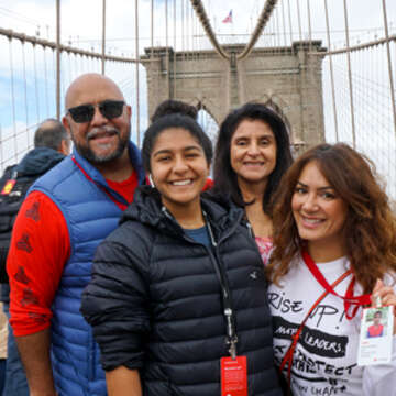 Save the Children celebrated their first annual Bridge the Gap Challenge on October 12th in New York City, to promote gender equality here in the US and around the world. Hundreds of participants walked over the Brooklyn Bridge as part of the fundraiser to help girls in need. Photo credit: Matthew Morrison / Save the Children, October 2019.
