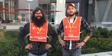 Canvassers, Alex Ambrecht & Ben Berr are Canvassers that work for DialogueDirect and help fundraise for Save the Children in Glendale California.