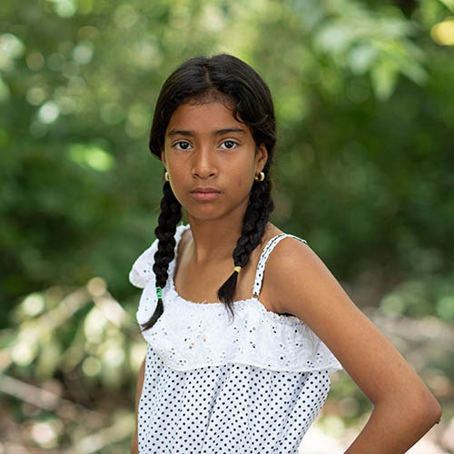 Luisa*, is 12 years old and one of over a million people that have fled to Colombia from neighboring Venezuela, leaving because of lack of food, economic hardship and increasing violence. Photo credit: Save the Children 2020.