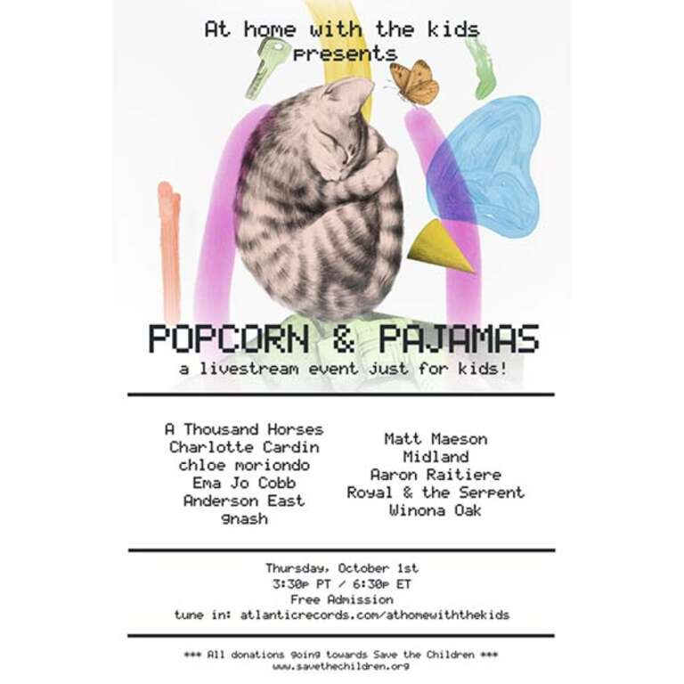 Popcorn and PJs event poster