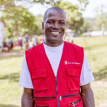 Portrait of Fred, a Save the Children staff member, at the Uganda Country Office.