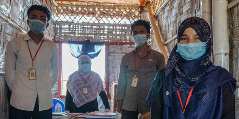 Save the Children health workers in Cox's Bazar, Bangladesh, are still providing vital services during the COVID-19 outbreak.