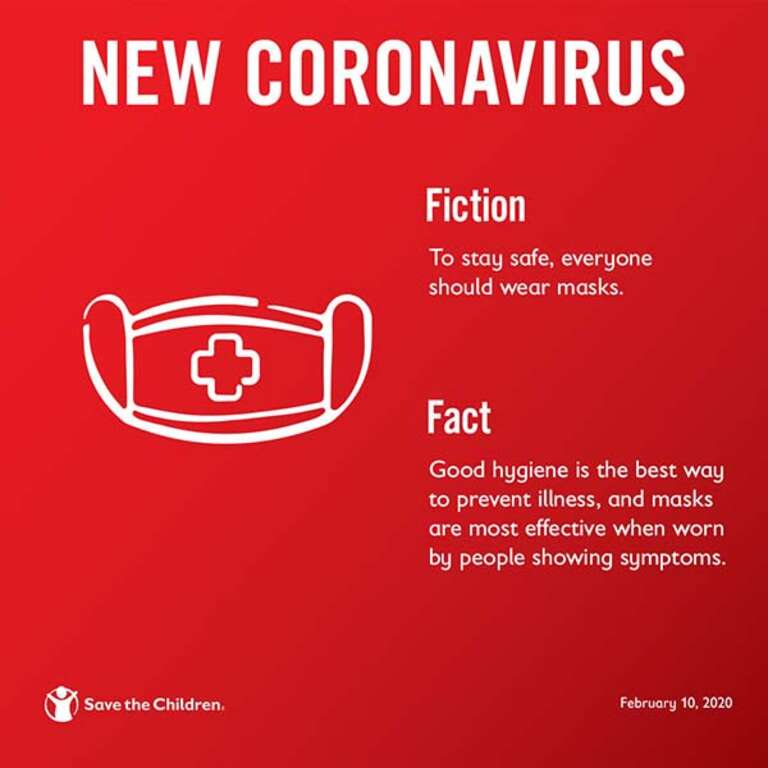 An illustrated graphic that shares helping information about the coronavirus.