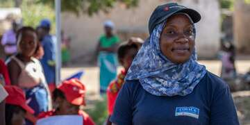 Sarah, Health Officer for the Emergency Health Unit. She joined after Cyclone Idai hit central Mozambique destroying homes, schools, hospitals and infrastructure.