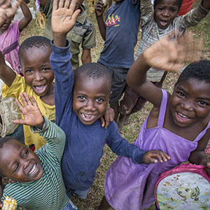 Children playing in Zomba District, Malawi.