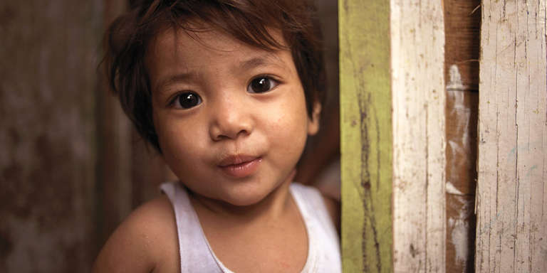 Jasmine, a beneficiary of Save the Children's Community-based Management of Acute Malnutrition (CMAM) program in the Phillipines. Photo credit Carlo Gabuco / Save the Children, June 2018.