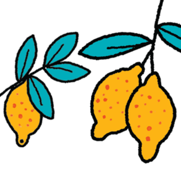 Two lemons graphic