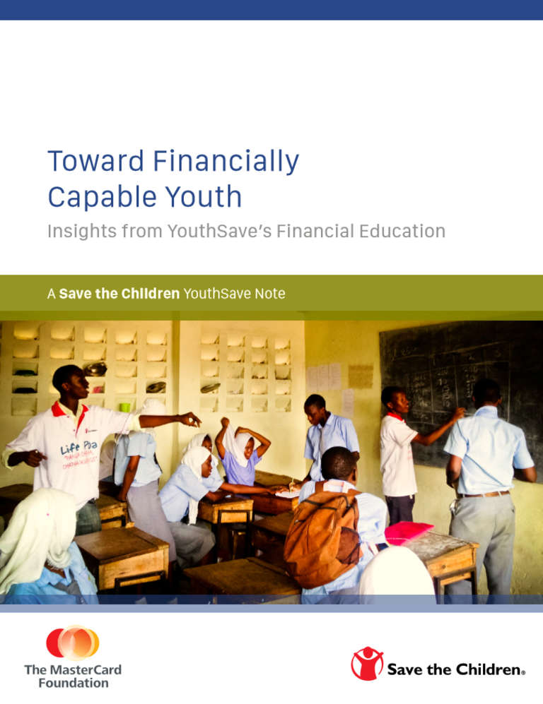 Toward Financially Capable Youth