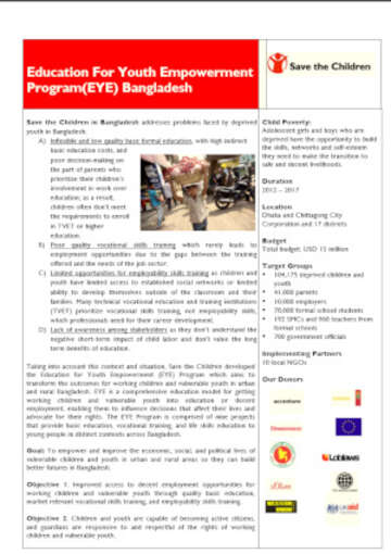Bangladesh Education for Youth Emporwerment Program