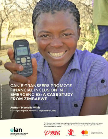 Can E-Transfer Promote Financial Inlcusion in Emergencies