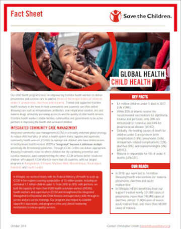 Child Health Fact Sheet Cover 2019