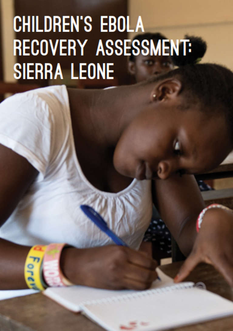 Children Ebola Recovery Assessment: Sierra Leone Cover