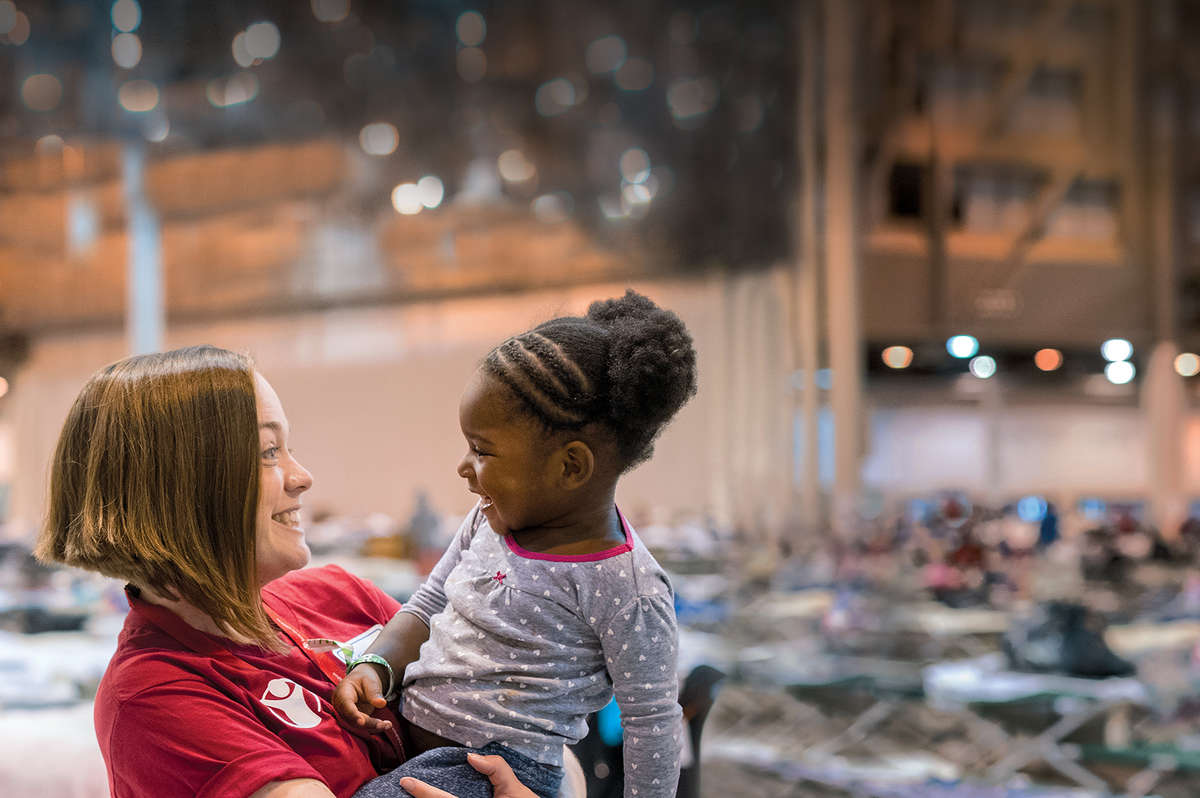 Save the Children and your support helped us care for 2-year-old Samantha* and so many more, in the wake of last year's devastating hurricanes in the United States. *Name changed for child's protection. Photo credit: Save the Children/Susan Warner 2017.