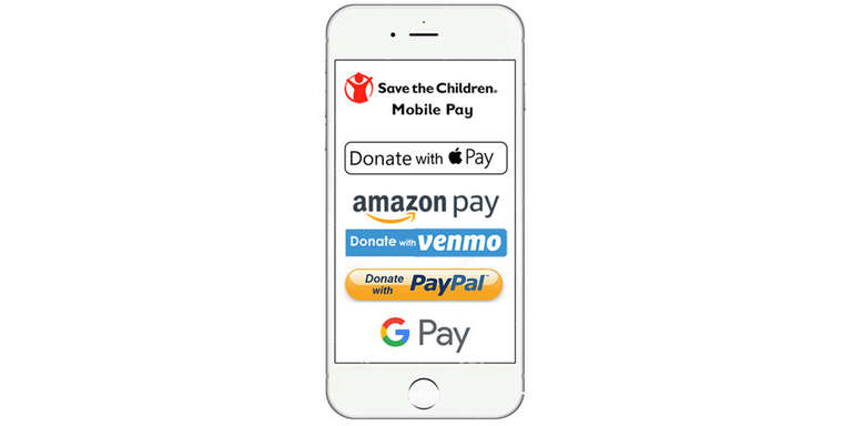 Mobile Pay Graphic. Save the Children 2019.