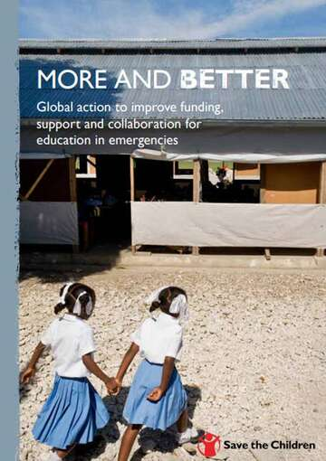 More and Better: Global Action to Improve Funding Support and Collaboration for Education in Emergencies Cover