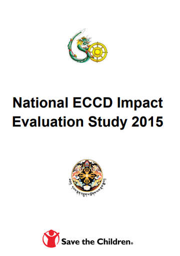 National ECCD Impact Evaluation Study 2015 - Bhutan Cover