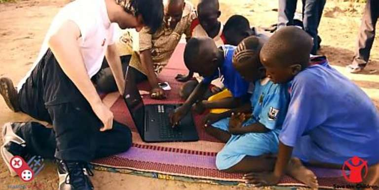 World famous gamer and philanthropist Athene visiting Save the Children programs in Mali