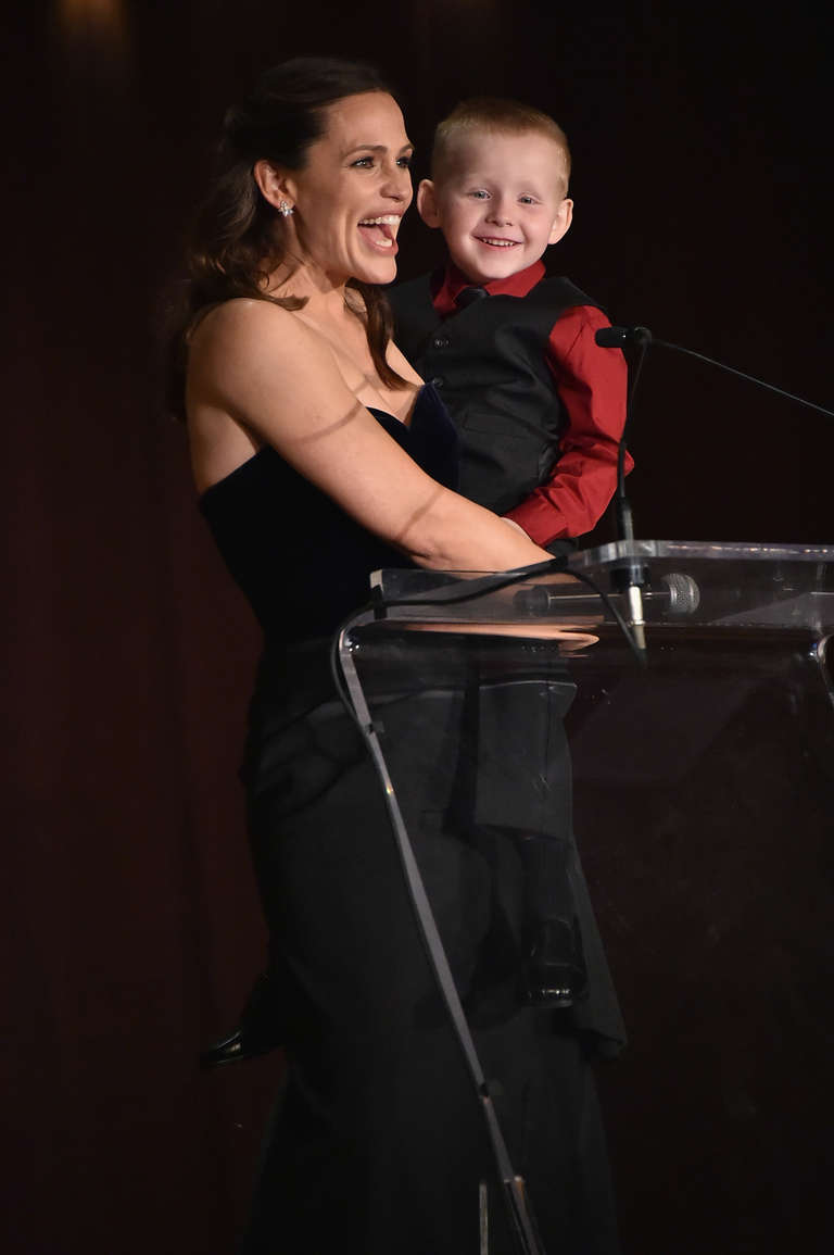 Jennifer Garner onstage with Brantley Smith