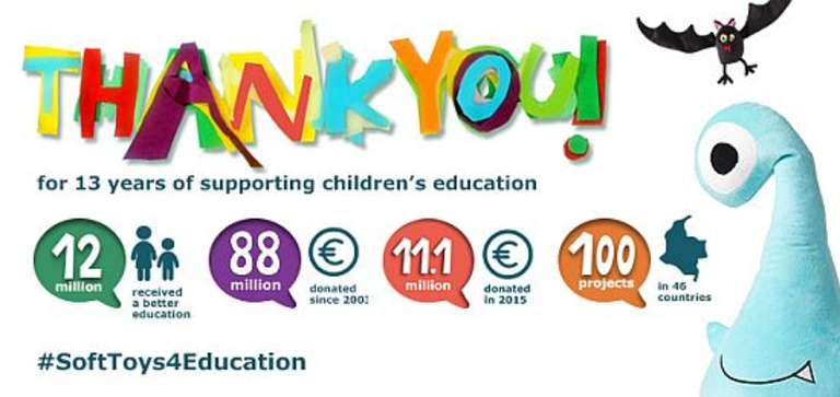 Thank You for 13 Years of Supporting Children's Education