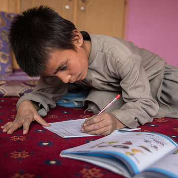 In Afghanistan, Hemat* is afraid of going to school because of the many risks on the way to get there and back.