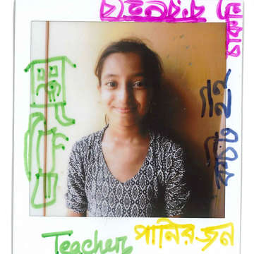 In this drawing she made on her portrait in June 2019, 13-year-old Fatima*, a Rohingya refugee in Bangladesh, describes traumas she has faced as well as her dreams for the future. *Name has been changed. Photo Credit: Save the Children 2019.